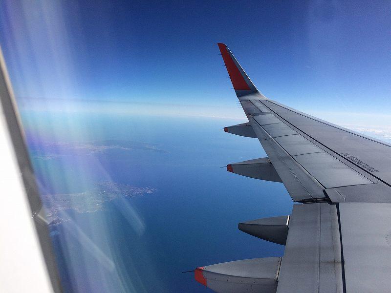 【ジェットスターで行く】青島から鬼の洗濯岩を見て飫肥まで【宮崎】飛行中