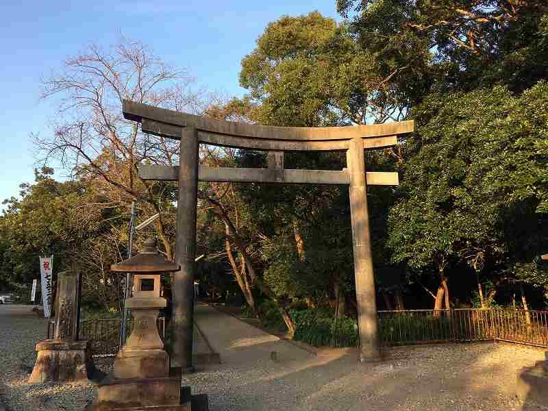 【ジェットスターで行く】青島から鬼の洗濯岩を見て飫肥まで【宮崎】江田神社鳥居
