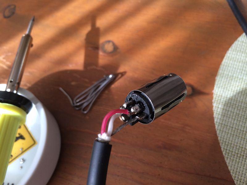 【XLRコネクター修理】マイクのケーブルが取れた【ハンダ付け】8